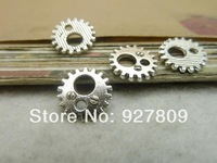 Free Shipping 150pcs 12mm antique silver Alloy small gear diy accessories vintage  Fashion Jewelry Charms