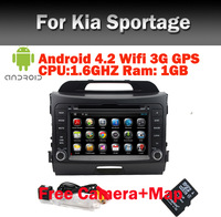 Free Camera Kia Sportage Android 4.0 Car DVD GPS Navigation Bluetooth Radio TV USB SD IPOD Steering Wheel Control.