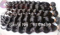 Free Shipping malaysian curly hair deep Wave 2 pcs/lot 3.5 oz/pc No Tangle No shedding queen hair products