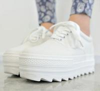 Low platform canvas shoes autumn casual round toe platform shoes elevator shoes women's solid color