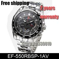 New 550 Watch EF-550RBSP-1AV Chronograph Mens brand quartz sports Watches EF-550RBSP-1A 1/20 Stopwatch Pendulum Swing Function
