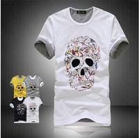 2014 Men's T Shirt Print Sewing Short Sleeve Cotton T-shirts Male Quality Fashion Brand Design Causal Slim Tshirt For Men  942