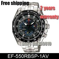 Hot New Stainless Steel EF-550RBSP-1AV EF-550RBSP-1A EF 550RBSP 550 Sports Chronograph Men Man Stopwatch Wristwatch wrist Watch