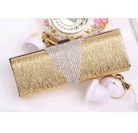 Latest Hot Evening Bag.Diamond Bark Pattern Clutch.PU Leather Wedding Bridal Handbag. Chain Shoulder Messenger Bag.Free Shipping