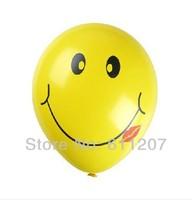 Good quality 12 Inch 3.2g /pcs 50pcs /lot smiley print Latex Balloons,Celebration Birthday Party Decorative Pet Balloon
