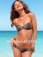 Free Shipping Product Recommendation Sexy Lady Swimsuit Bikini Beach Clothing Leopard Swimsuit Bandage Swimsuit Y037