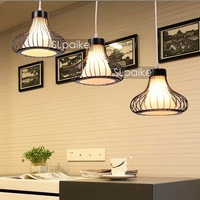 Modern brief pendant light restaurant lamp bedroom lamp fashion three head pendant light wrought iron lighting lamps
