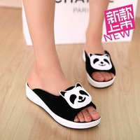 2014 women's slippers bathroom casual shoes sandals female flat sandals open toe