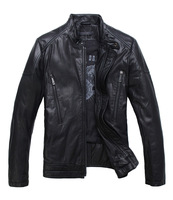 New arrival businessmen fashion and high quality genuine calf leather jacket free shipping