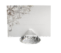 FREE SHIPPING DHL or FEDEX+Diamond Shape high quality Crystal Place Card Holder Wedding Favors+100pcs/LOT