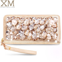 Wallet 2014 female long design women's wallet women's rhinestone clutch day clutch q11