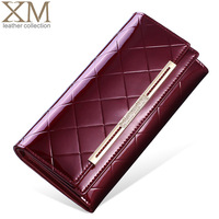 Women's wallet 2014 plaid female long design wallet fashion wallet cowhide wallet