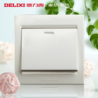 Delixi switch socket panel brief half-way switch