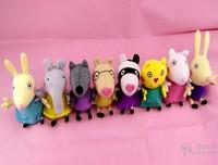 peppa pig doll 8pcs/set Peppa Pig's Friends 19cm plush toys All Friends