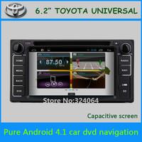 Pure Android 4.1 Toyota Auris Hilux VIOS Old Camry Corolla Prado RAV4 Prado dvd gps 2002 2003 2004 2005 2006 2007 2008capacitive