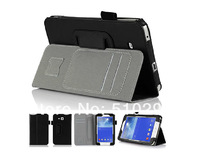 PU Leather Cover Case With Handstrap & Card Holder For Samsung GALAXY Tab 3 lite 7'' T111 T110 Tablet case