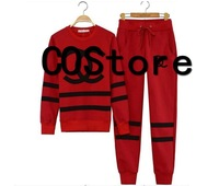 Free Shipping Fake CC COCO Cotton Sweatshirts Pullovers Women Fleece Long Sleeve Sweater Hoodies Suit Blouse+Pants 2 pcs/lot