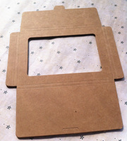 15.0*10.5*0.5CM Kraft envelope postcard cartridge sleeve postcard box / fan card tray cross section / custom envelope