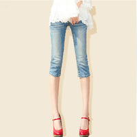 2013 summer female women's denim capris in shorts knee-length pants women's breathable type