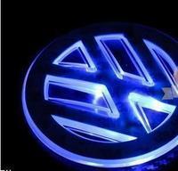 Volkswagen lavida bora cc passat refires suitcase emblem led background light label modified car decoration lamp