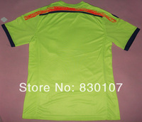 Top Thai Quality 2014 Brazil World Cup Japan Green Soccer Jerseys Player Version Embroidery Logo Custom Sports Jersey Shirt