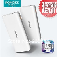 Romoss 10400MAH external battery pack power bank Mobile phone backup powers Charger for iphone 5s ipad mini samsung smartphone