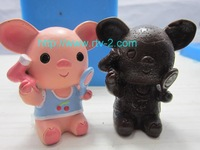 2014 Promotion Freeshipping Rubber Moulds Sgs Lfgb Fda Ce / Eu Stocked Pig Cake Mold Chocolate 3d Animal Cartoon New Exclusive