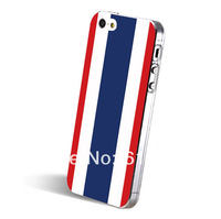Thailand flag painted monocoque cell phone case for iPhone5 5s