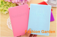 (50Pieces/lot)DHL Free Shipping 100% Passport Case Cover Mix Colors Silicone Travel Passport Case Cover for Passport