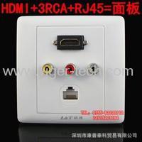 HDMI socket + 3 av lotus (rca) 3 + network triad wall panels of multimedia