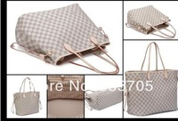 New Arrive women's neverfull handbag louis plaid shoulder bags free shipping N51105 tote bag salable