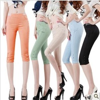 2013 summer capris legging female plus size short trousers n35