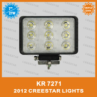 4pcs/lot Auto 10-30V DC 27W LED Working Light truck 7inch off-road LED Work Lamp used for truck jeep KR7271 DHL free shipping