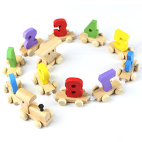 Recognizing the numeric model train car disassembly early childhood cognitive enlightenment fun educational toy building blocks