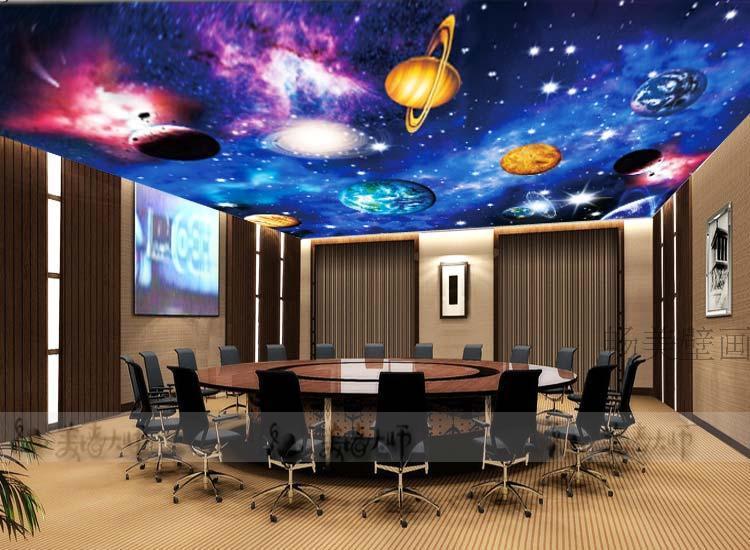 Large ceiling wallpaper mural wallpaper ceiling space for Blacklight wall mural
