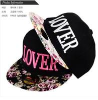 spring 2014 lover flower baseball cap  hip hop snapback caps fashion strapback hats for women