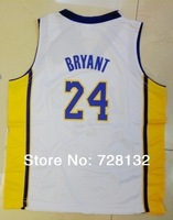 ^_^2014 Kids/youth #24 Kobe Bryant  Los Angeles white Basketball Jersey Uniforms,baby/child basketballer Kits Free ship ePacket