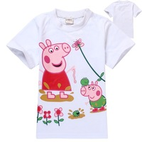 peppa pig casual t-shirt girl's fashion t shirt clothing summer new hot selling baby clothing t shirts tunic children wholesale