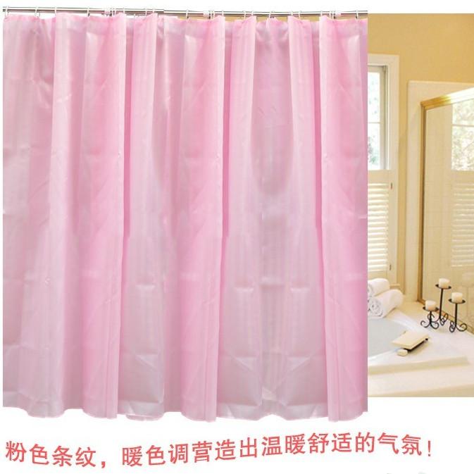Terylene cortina de chuveiro do chuveiro do banheiro cortina de tecido impermeável espessamento da cortina de chuveiro sedas e cetins moda tarja(China (Mainland))