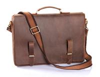 Mens genuine leather,cowhide,briefcase bag,messenger bag,shoulder bag,tote,handbags,document bag case,vintage,classic style