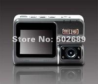 HD 720P Dual Lens Car DVR I1000 with G-Sensor + MOV Video Recorders + 140 degree ultra wide angle lens Camcorder Car Camera