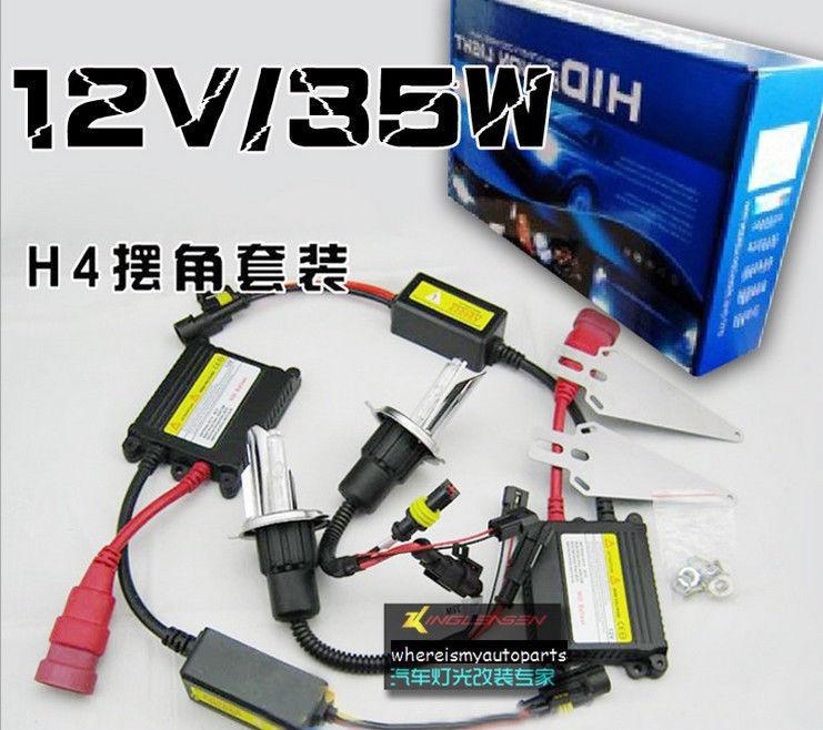 Free shipping Volkswagen Halogen 12V Xentec Slim Xenon HID Conversion Kit 35W H4 Hi-Lo Bi-Xenon(China (Mainland))