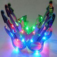 Colorful guitar led flashing glasses luminous mask hip-hop masquerade props