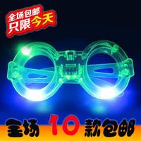 Shiny led glasses Christmas night market toy style