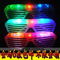 Louver window flashing glasses led flashing glasses led glasses masquerade masks props 8506