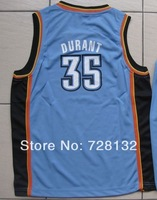 ^_^ 2014 Kids/youth Oklahoma 35 Kevin Durant blue Basketball Jersey Uniform,baby/child Brand REV 30 basketballer Kits mix order