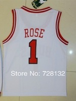^_^ New 2014 Kids/youth Chicago Derrick Rose #1 white Basketball Jersey Uniforms,baby/child basketballer suits Free ship ePacket