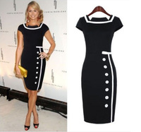TOP quality womens Ladies Celebrity Cocktail Party Bodycon Pencil Dresses Party Dres Free shipping