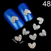 2014 Fashion Punk Heart Nail Art Decorations 3D Nail Jewelry Alloy Rhinestone Nail Art DIY Decoration Glitters Slices