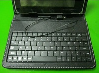 "Free Shipping 7"" 8"" 9"" 10.1""  Russian/poland/spain Leather keyboard case for Netbook MID Tablet PC Support drop shipping"